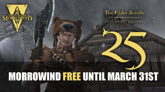 Morrowind Available for Free Until March 31st