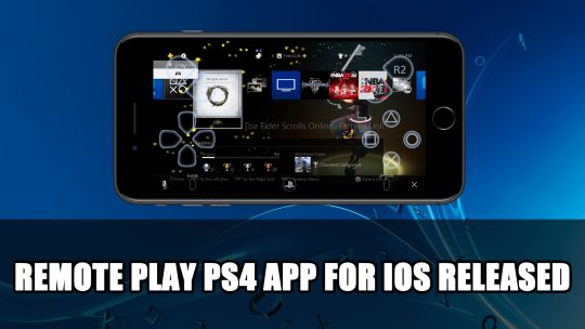 Playstation Releases Remote Play App for iOS iPhone and iPad