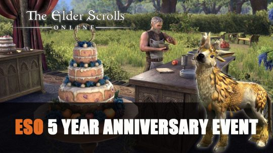 Elder Scrolls Online Celebrates Turning 5 Years Old with 5 Week Event