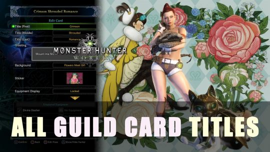 Monster Hunter World: All Guild Card Titles