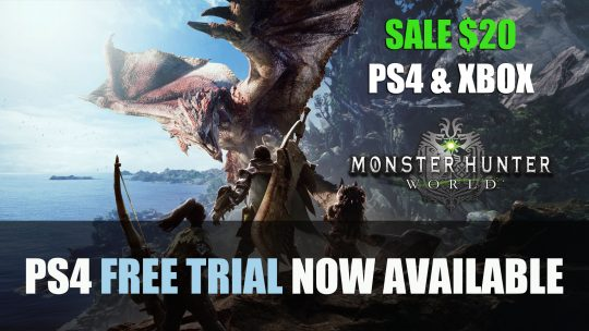 Monster Hunter World PS4 Free Trial Available Now