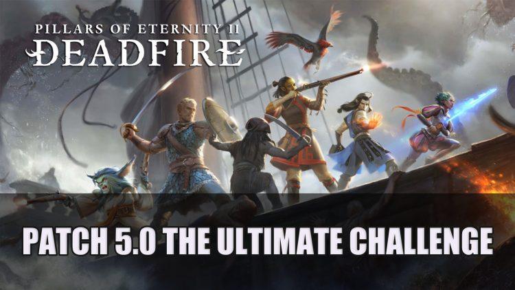 Pillars of Eternity II: Deadfire Update Patch 5.0