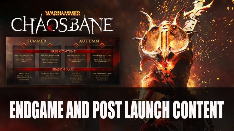 Warhammer Chaosbane End Game and Post Launch Outlined