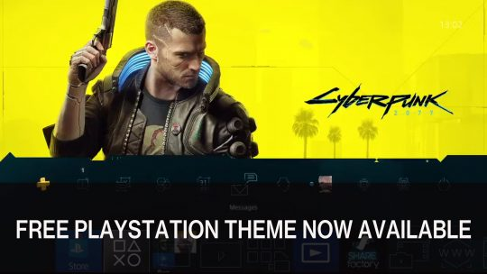 Cyberpunk 2077 Free PS4 Theme Now Available