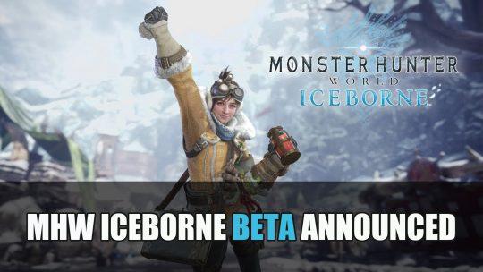 Monster Hunter World Iceborne Beta Dates Announced
