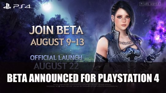 Black Desert Beta Announced for Playstation 4; Xbox One Gains New Content