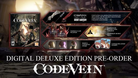 Code Vein Digital Deluxe and Revenant Pre-Order Editions