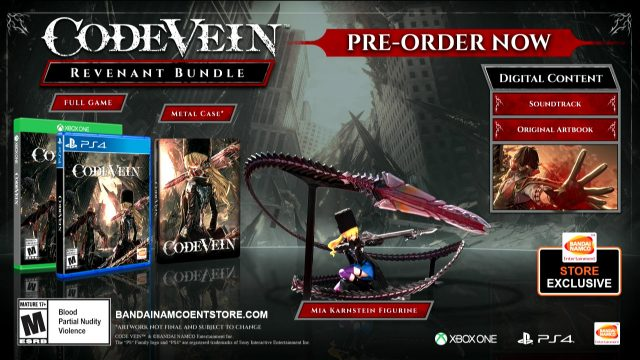 Code Vein Digital Deluxe and Revenant Pre-Order Editions | Fextralife