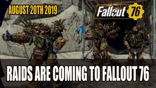 Raids Coming to Fallout 76 This August 2019