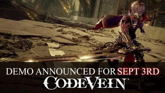 Code Vein Demo For Xbox One and PS4 on September 3rd