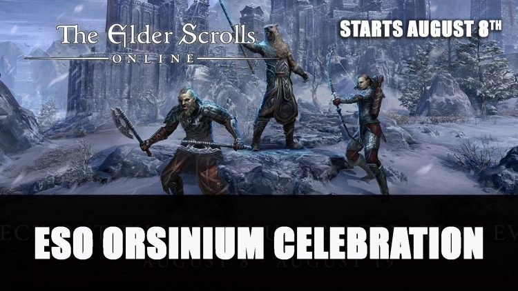 Elder Scrolls Online Orsinium Celebration Event Starts August 8th