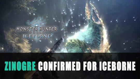 Monster Hunter World Iceborne Trailer Featuring Zinogre