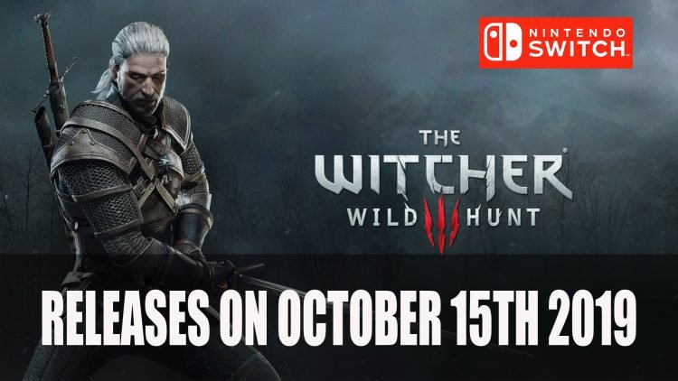 Witcher 3 Releases On Switch October 15th