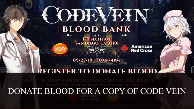 Donate Blood for a Copy of Code Vein at Twitchcon