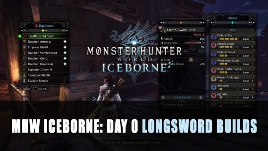 MHW Iceborne: Day 0 Longsword Builds