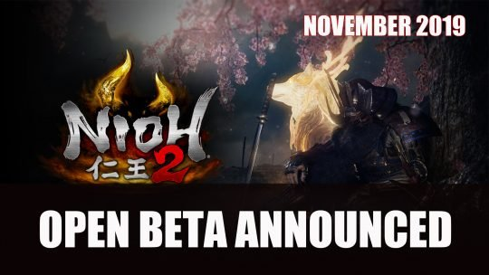 Nioh 2 Open Beta Starts in November
