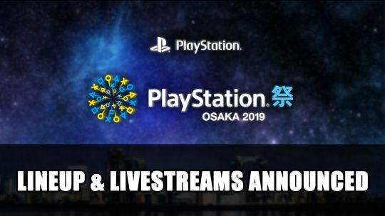 Sony Announces Playstation Matsuri Osaka 2019 Lineup