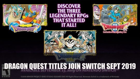 Dragon Quest I, II and III Coming to Switch on September 27th