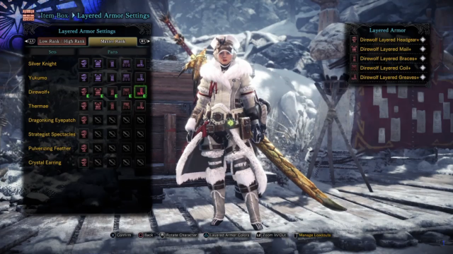 monster hunter world iceborne layered armor