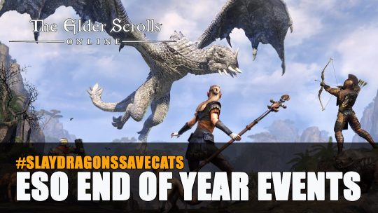 Elder Scrolls Online Slay Dragons Save Cats – End of Year Events