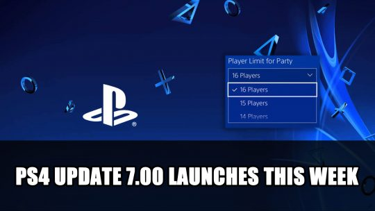 PS4 System Software Update Version 7.00 Launches with Party and Remote Play Enhancements
