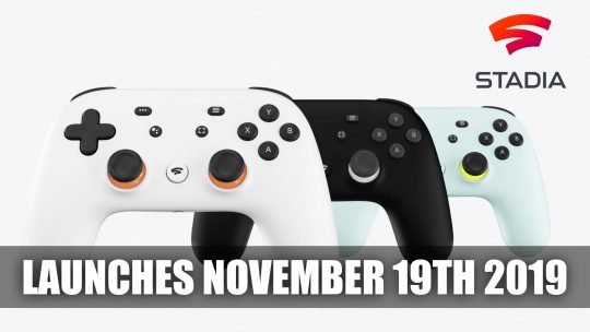 Google Stadia Releases on November 19th 2019