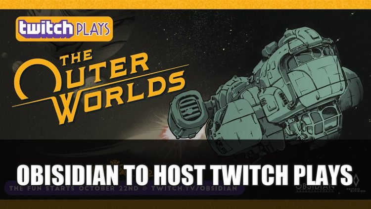 The Outer Worlds Will Be Twitch Plays First Unreleased Game
