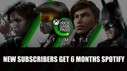 Xbox Game Pass Ultimate Offer Includes 6 Months Spotify Premium
