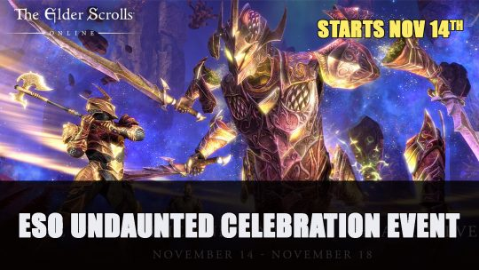Elder Scrolls Online Undaunted Celebration Event 2019