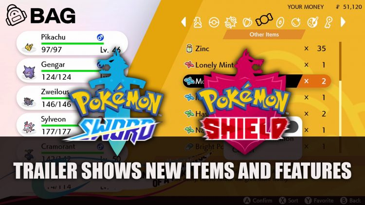 Pokemon Sword and Shield Trailer Highlights New Items and Features