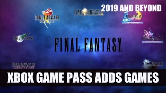 Xbox Game Pass to Gain Many Final Fantasy Games Plus More