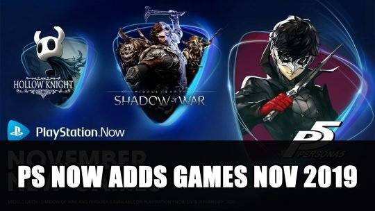 Playstation Now November New Games