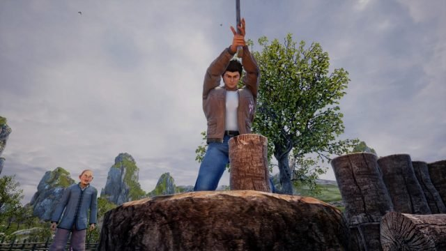 shenmue-3-review-wood-chopping-job