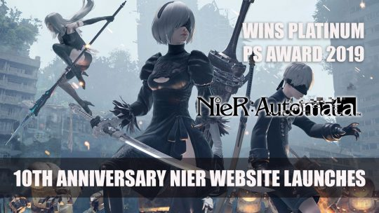 NieR Opens 10th Anniversary Teaser Website Plus Wins Platinum Prize at Playstation Awards