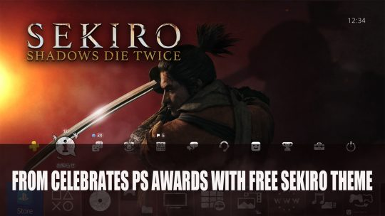 FromSoftware Celebrates Playstation Awards with Free Sekiro PS Theme