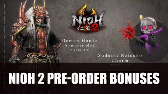 Nioh 2 Pre-Order Bonuses