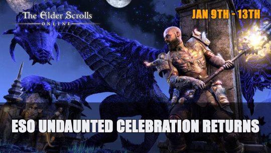 Undaunted Celebration Returns to Elder Scrolls Online January 9th