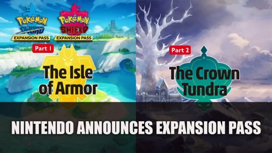 Nintendo Announces Pokemon Sword and Shield Expansion Pass