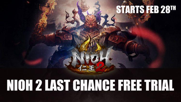 Nioh 2 Demo Last Chance Trial Starts February 28th