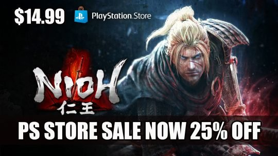Nioh is Now 25% Off on the Playstation Store