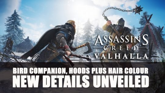 Assassin's Creed Valhalla Get Details About Bird Companion, Hoods Plus Hair Colour