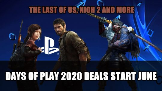 Playstation Days of Play 2020 Deals Will Start Early June