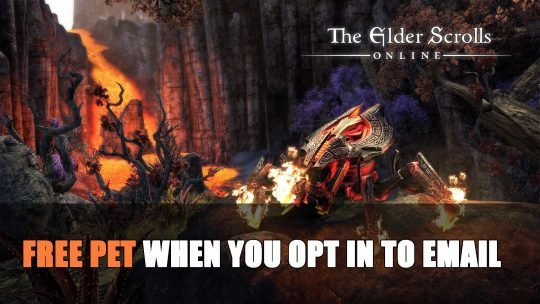 Elder Scrolls Online Free Pet When You Opt in to Email