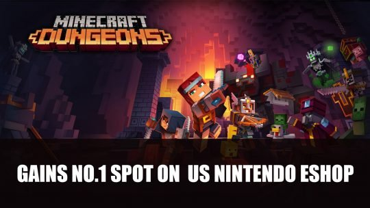Minecraft Dungeons Surpasses Animal Crossing on US Nintendo eShop