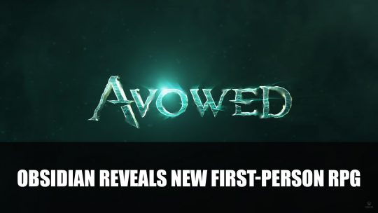 Avowed A Fantasy RPG Announced by Obsidian