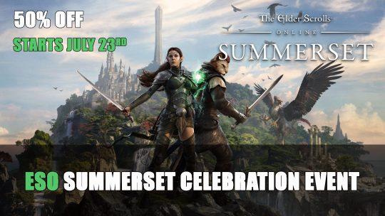 Elder Scrolls Online Summerset Celebration Event Starts July 23rd