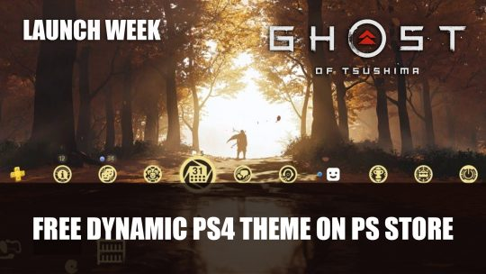 Ghost of Tsushima PS4 Theme is Available for Free