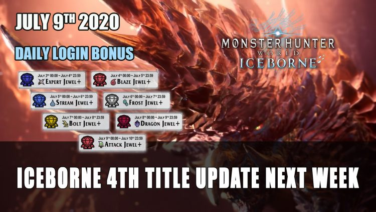 Monster Hunter World: Iceborne Free Title Update 4 Releases July 9th