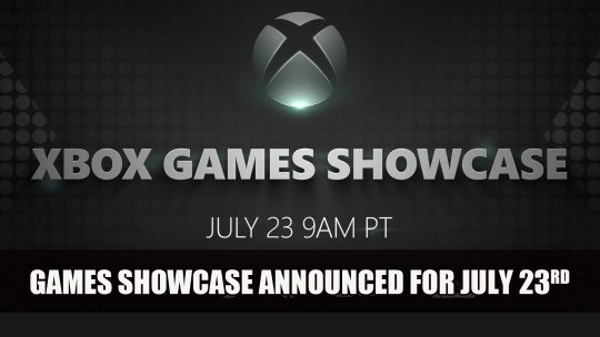 Xbox Series X Games Showcase Announced for July 23rd