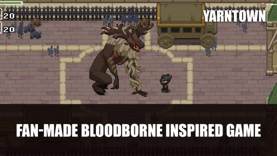 Yarntown a 2D Bloodborne Remake with Zelda Features